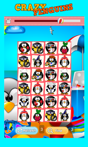 Crazy Penguins Matching Game