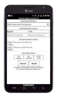 Nutrition Explorer - screenshot thumbnail
