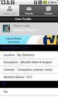 Screenshot of ebTalk Mobile 2013