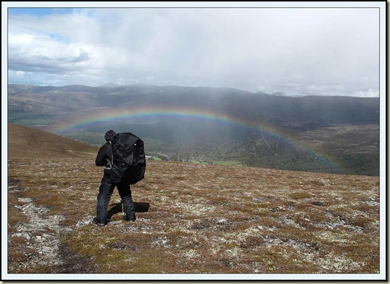Poor Michael struggles to find a way down to Glen Feshie on 20 May 2011