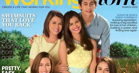 Lotlot de Leon, Janine Gutierrez on Working Mom March 2015 ...