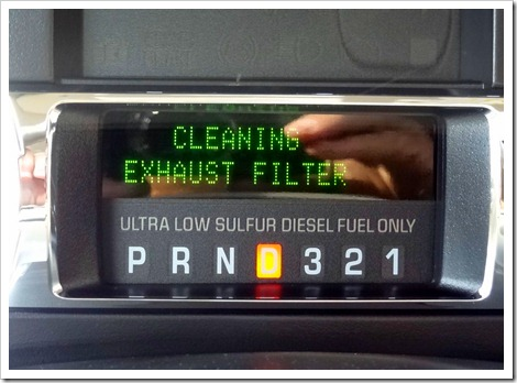 Cleaning Exhaust Filter warning