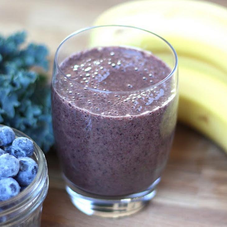 Blueberry Banana Kale Smoothie