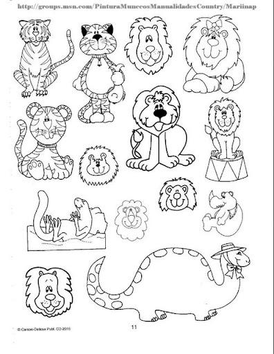 Imagenes De Animales Savajes Y Domesticos Para Imprimir Y Colorear