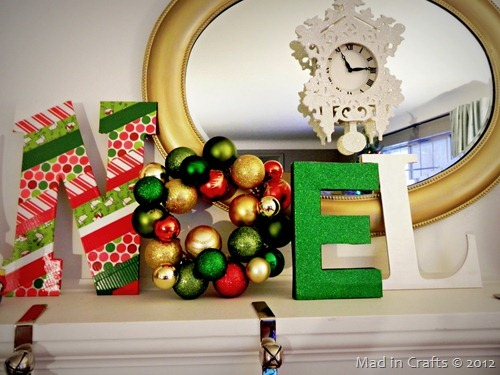 NOEL Christmas Craft with Duck Tape
