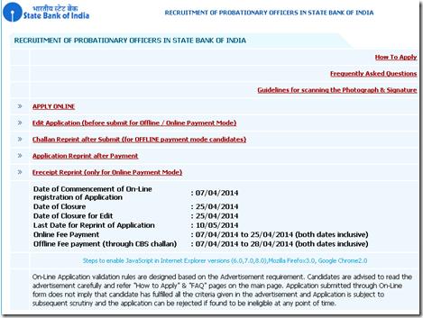 free online test for sbi associate po exam 2014