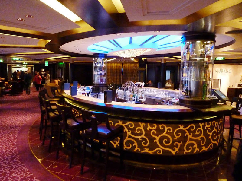 Sidle up to the bar in Celebrity Eclipse's lounge.