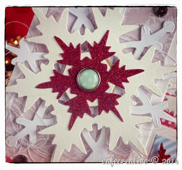 cafecreativo - sizzix bigshot - card step christmas - snowflake