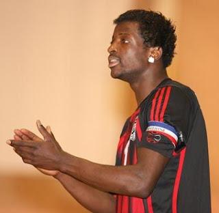 Johan Kiangebeni, capitaine de l'équipe de handball de la RDC