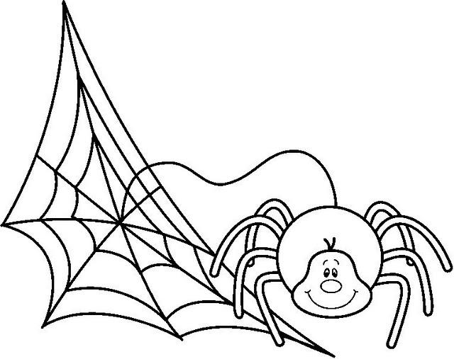 Arañas De Halloween Para Colorear: DIBUJOS DE ARAÑAS PARA PINTAR Y COLOREAR
