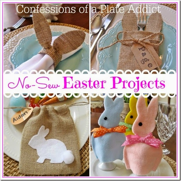 CONFESSIONS OF A PLATE ADDICT No-Sew Easter Projects