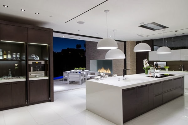 cocina-lujo-casa-laurel-way-Beverly-Hills-California