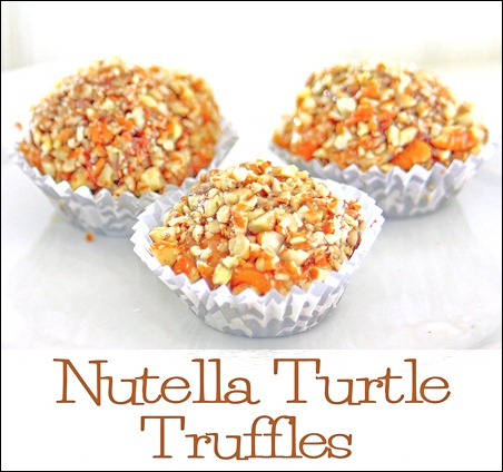Nutella Turtle Truffles via The Shabby Creek Cottage