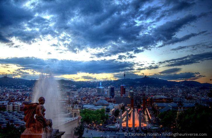 magic fountain in Barcelona
