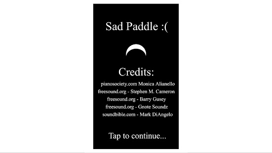 Sad Paddle :( - screenshot thumbnail