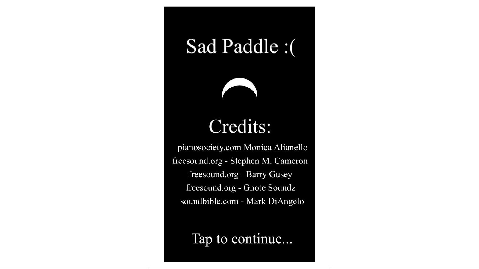 Sad Paddle :( - screenshot