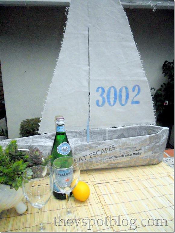 newspaper, sailboat, DIY