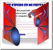 tarjeta del hombre araa dirigido para