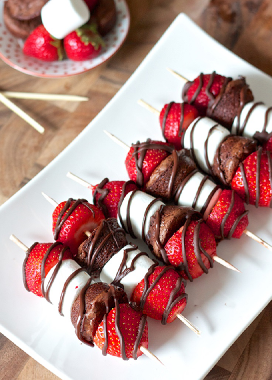 Strawberry-Brownie-Kabobs