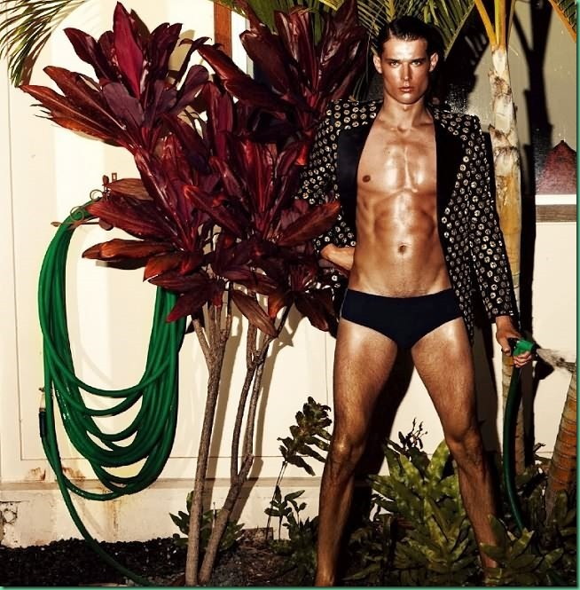 Danny Schwarz Lounges Poolside for GQ Style Koreas Latest