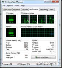 Windows Task Manager - Performance