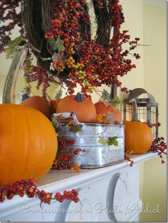 CONFESSIONS OF A PLATE ADDICT Farmhouse Fall Mantel6