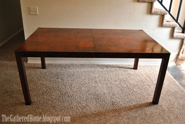 Patchwork Burl Table
