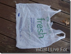 Grocery Sack Yarn-cut the bottom off the bag