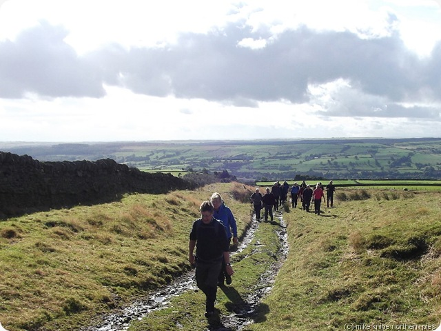 climbing up to north moor