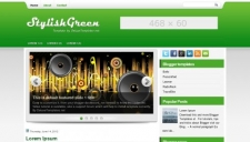 Stylishgreen blogger template 225x128