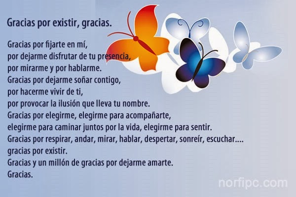 Imágenes Con Frases Y Poemas De Amor Gracias Por Existir