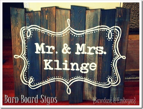 Barn Board Signs
