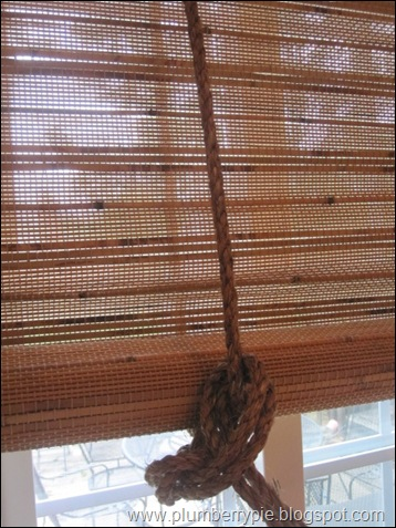 Plumberry Pie Day 24 Salvaging Broken Bamboo Blinds