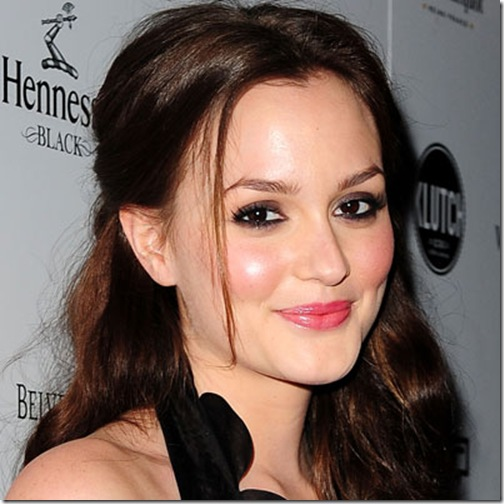 Leighton Meester Sweet And Simple Makeup Look Valentine