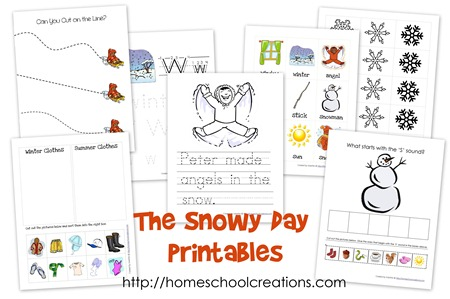 Snowy Day printables