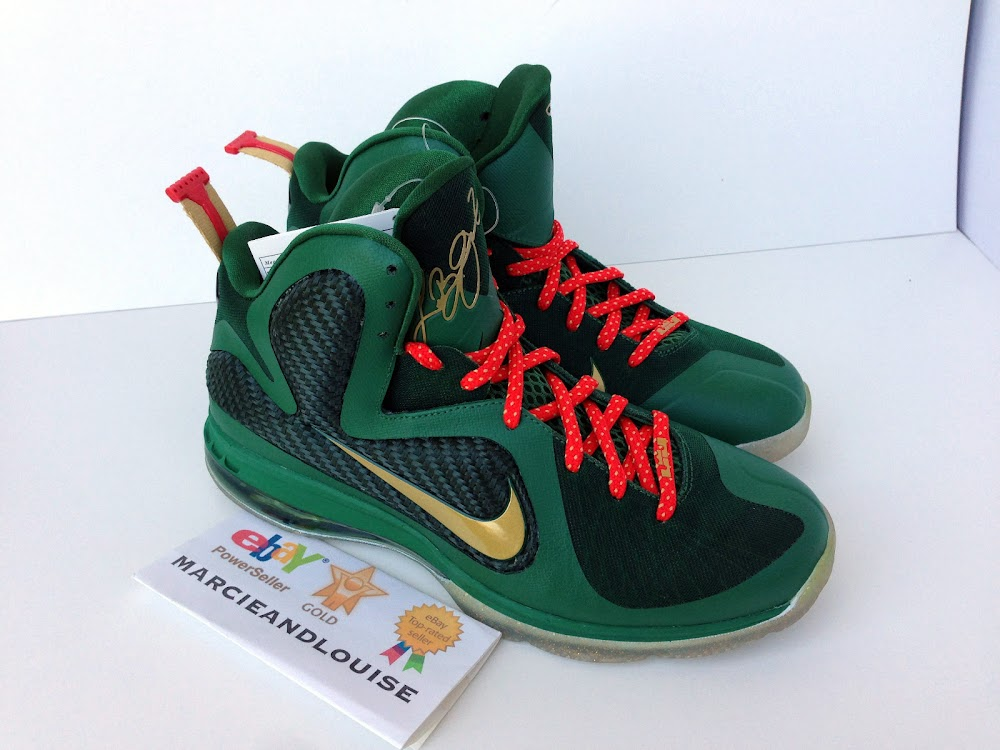 1528da93d378 ... Nike LeBron 9 Alternate Green Christmas Promo Sample ...