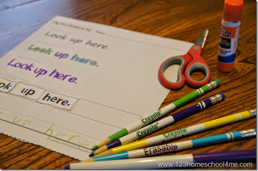 FREE Read Trace Write Sentences Worksheets With Primer Sight Words