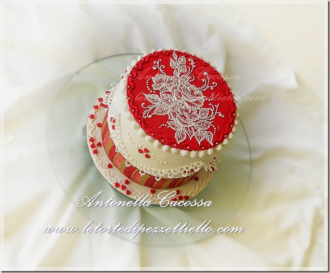 Torta decorata Brush embroidery