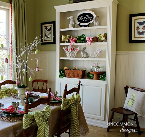 Easter-Tablescape-Bookcase