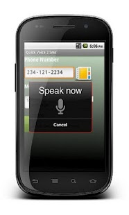 USpeak : Speech2sms - screenshot thumbnail