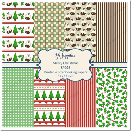 SP026 etsy 1 Merry Christmas printable papers