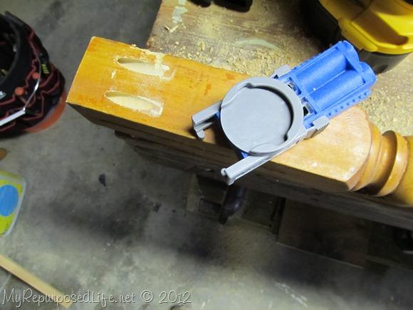 adjusting kreg jig pocket hole jig for bed posts