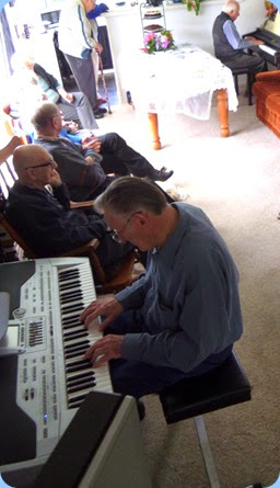 Roy Steen playing Delyse's Korg Pa1X with Rob Powell playing along on the Clavinova.