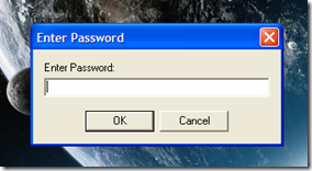 Smart PC Locker Pro digitare password di sblocco