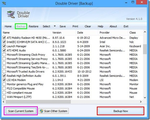 Double Driver Fare il backup dei driver