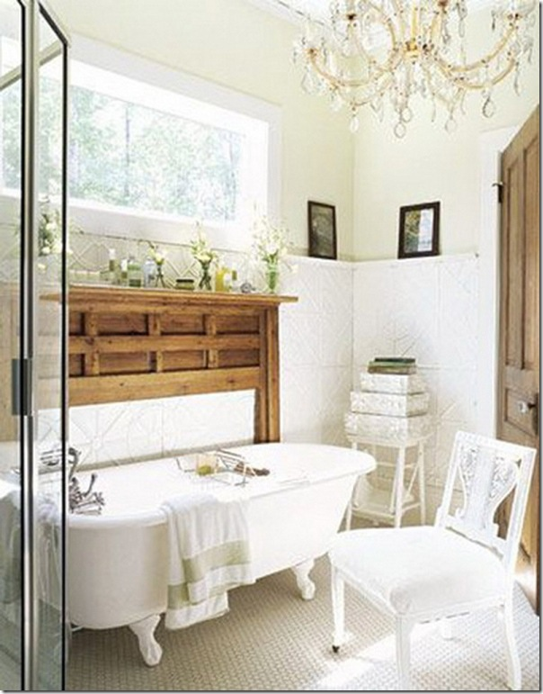 Classic Crystal Chandelier Small Bathroom Ideas White Bath Tub