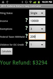 2011 Simple Federal Tax Return - screenshot thumbnail