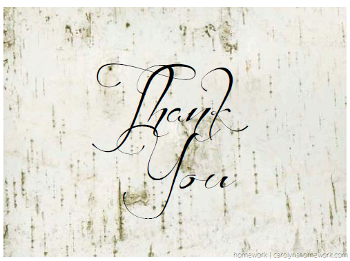 Birch Thank You Card 2