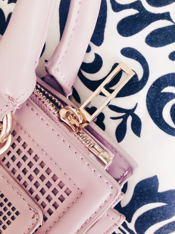 zara pink bag satchel cross body gold  dainte spela seserko