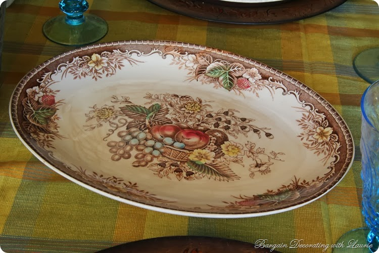 Thanksgiving platter-Bargain Decorating w Laurie